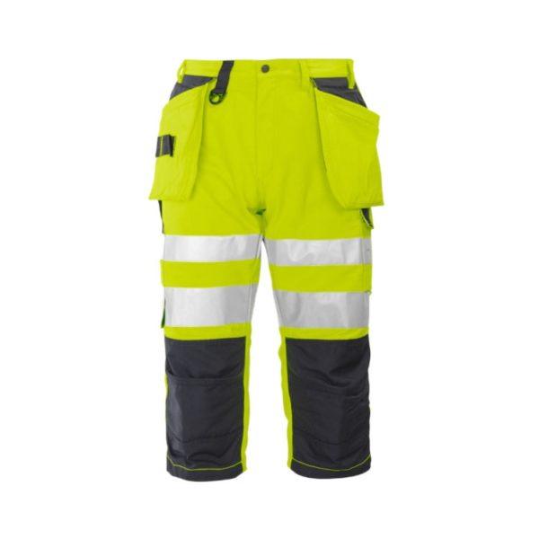 bermuda-projob-alta-visibilidad-6510-amarillo-fluor-negro