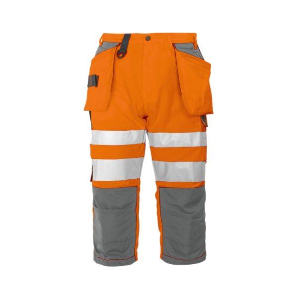 bermuda-projob-alta-visibilidad-6510-naranja-fluor-gris