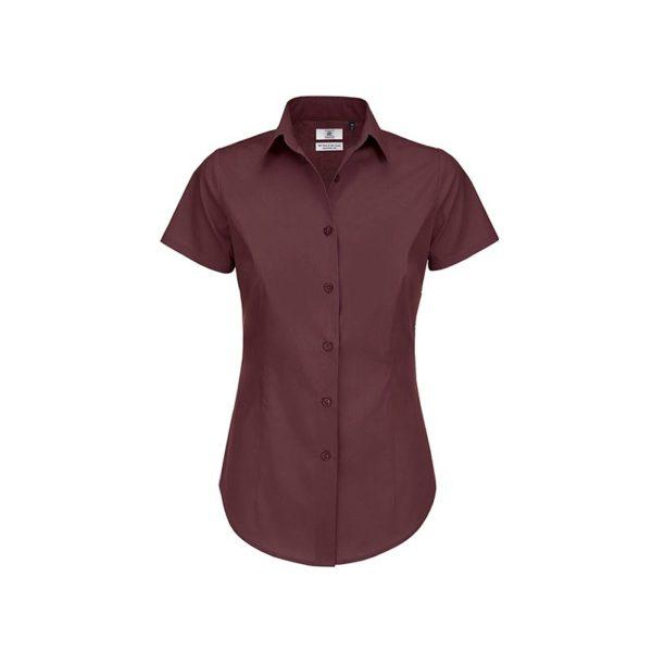 camisa-bc-popelina-elastan-bcswp24-burdeos-oscuro