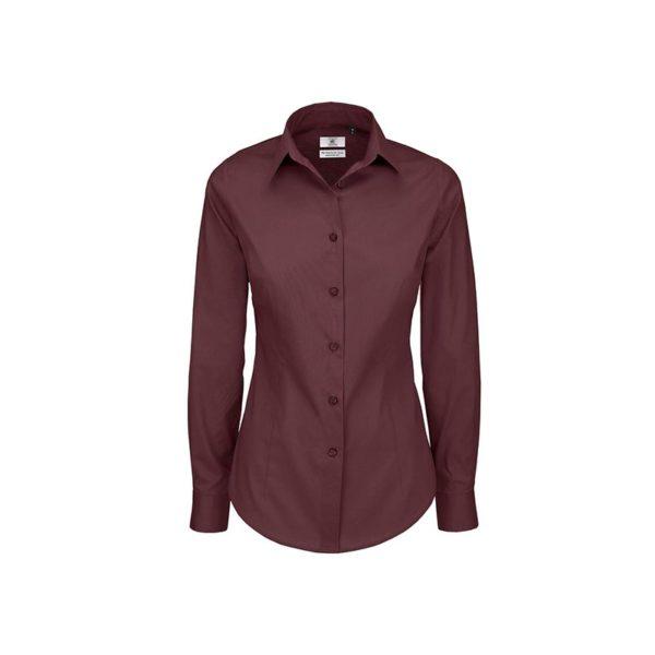 camisa-bc-popelina-stretch-bcswp23-burdeos-oscuro