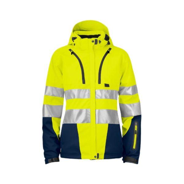 chaqueta-projob-alta-visibilidad-mujer-6424-amarillo-fluor-marino