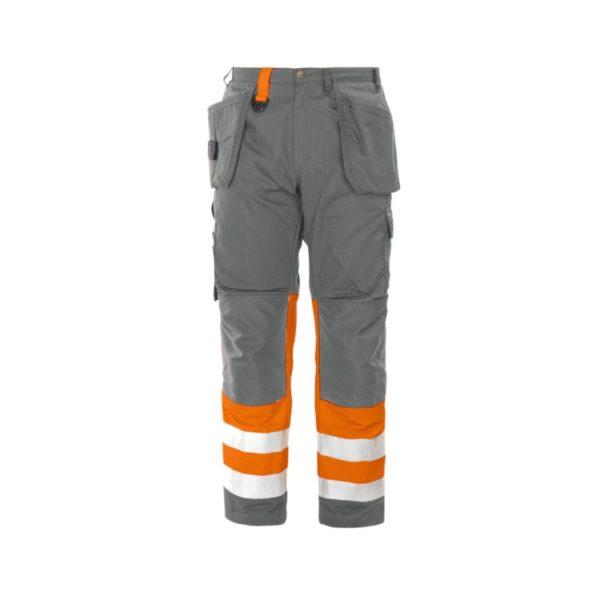 pantalon-projob-alta-visibilidad-6502-naranja-fluor-gris