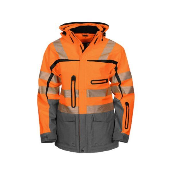 parka-projob-alta-visibilidad-6417-naranja-fluor-gris