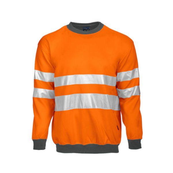 sudadera-projob-alta-visibilidad-6101-naranja-fluor-gris