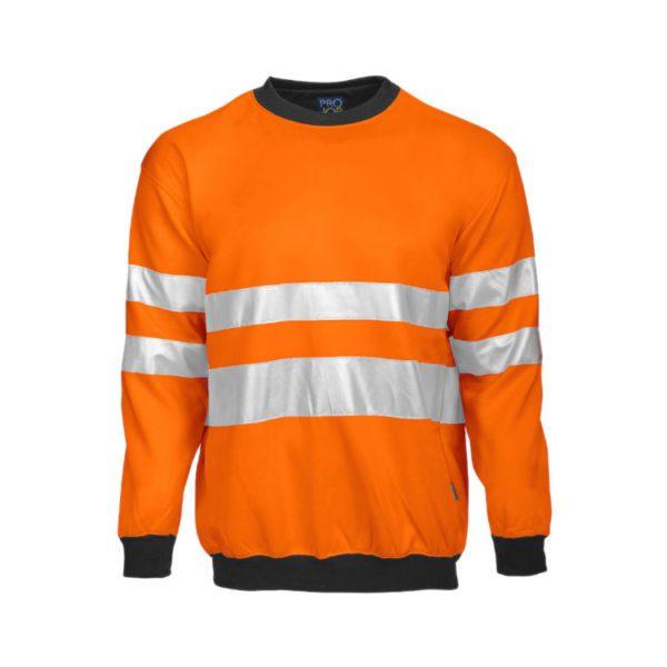 sudadera-projob-alta-visibilidad-6101-naranja-fluor-negro