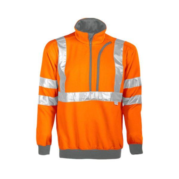 sudadera-projob-alta-visibilidad-6102-naranja-fluor-gris