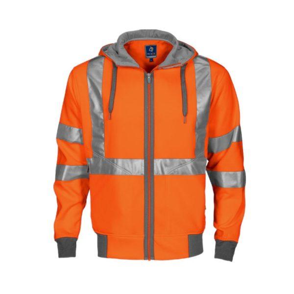 sudadera-projob-alta-visibilidad-6104-naranja-fluor-gris