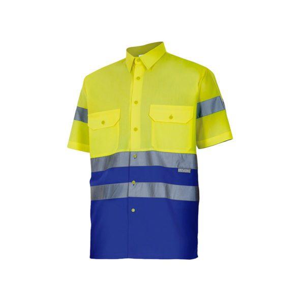 camisa-velilla-alta-visibilidad-142-amarillo-azul-royal