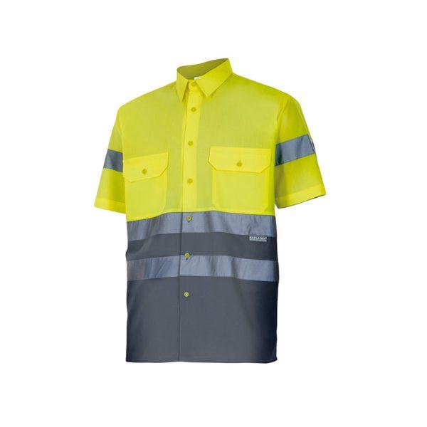 camisa-velilla-alta-visibilidad-142-amarillo-gris