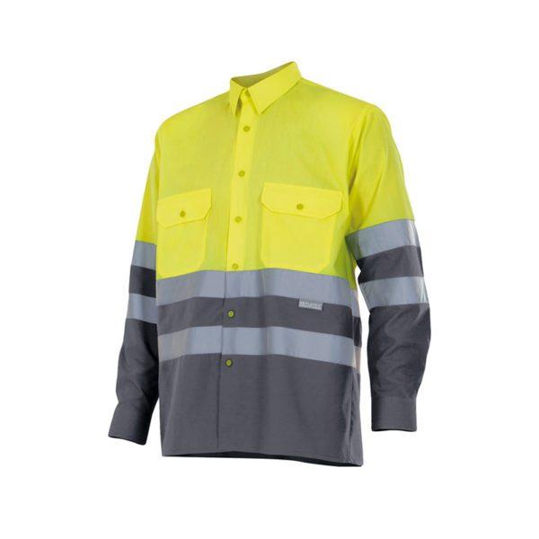 camisa-velilla-alta-visibilidad-144-amarillo-gris