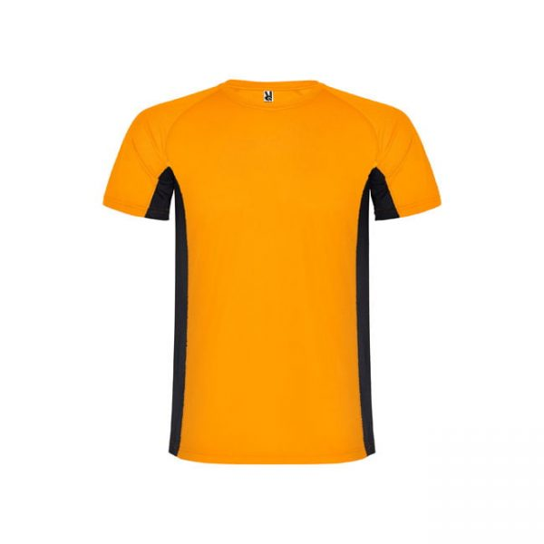camiseta-roly-shangai-6595-naranja-fluor-negro