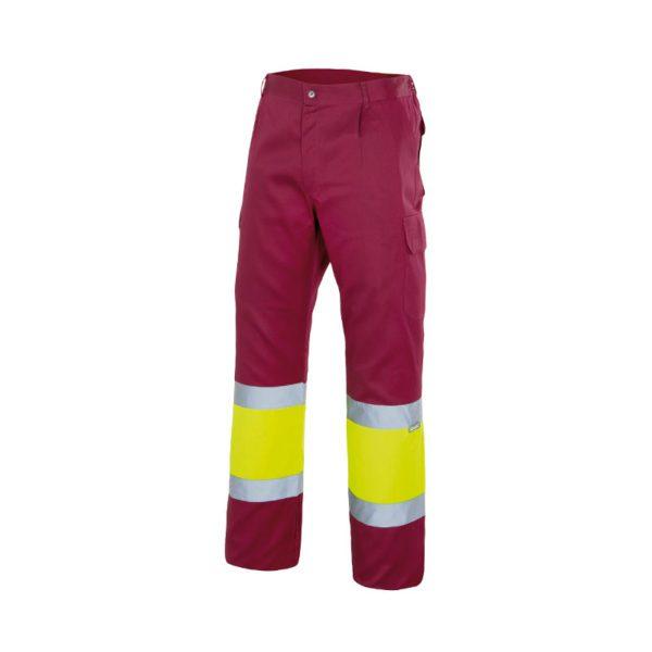 pantalon-alta-visbilidad-velilla-156-granate-amarillo