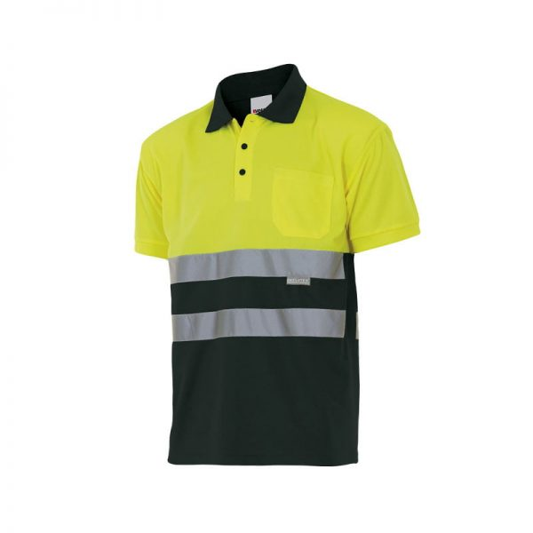 polo-velilla-alta-visibilidad-173-negro-amarillo
