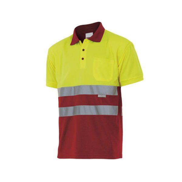 polo-velilla-alta-visibilidad-173-rojo-amarillo