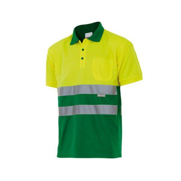 polo-velilla-alta-visibilidad-173-verde-hierba-amarillo