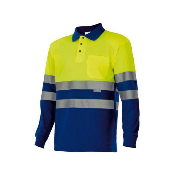polo-velilla-alta-visibilidad-175-azulina-amarillo