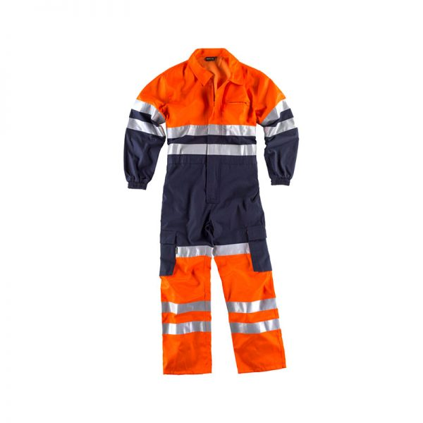 buzo-workteam-alta-visibilidad-c3000-azul-marino-naranja-fluor