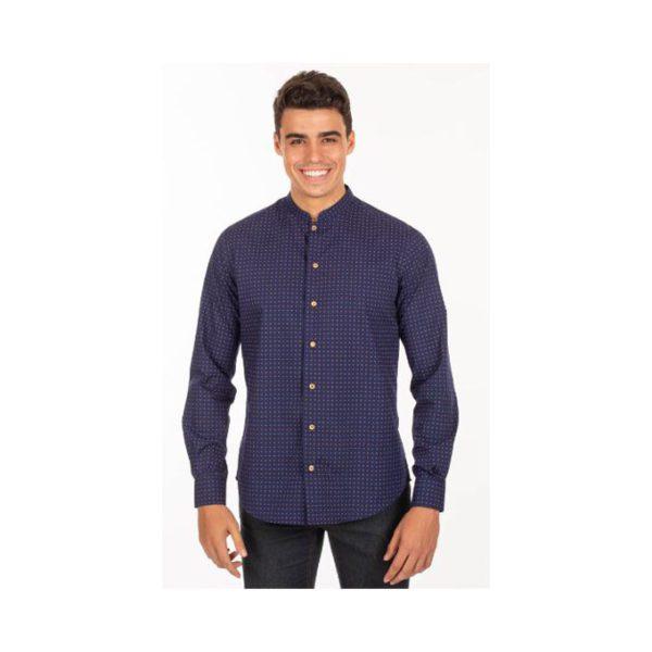 camisa-garys-fiore-2605-azul-marino-punteado