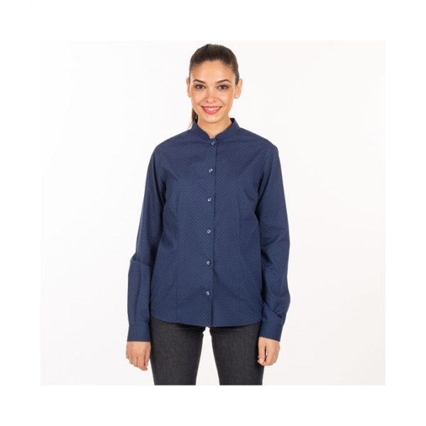 camisa-garys-fiorella-2498-azulina-topos-rojos