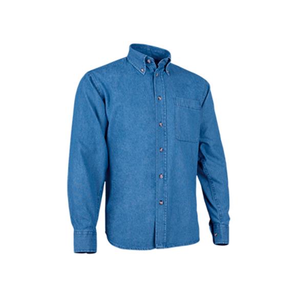 camisa-valento-lion-azul-denim