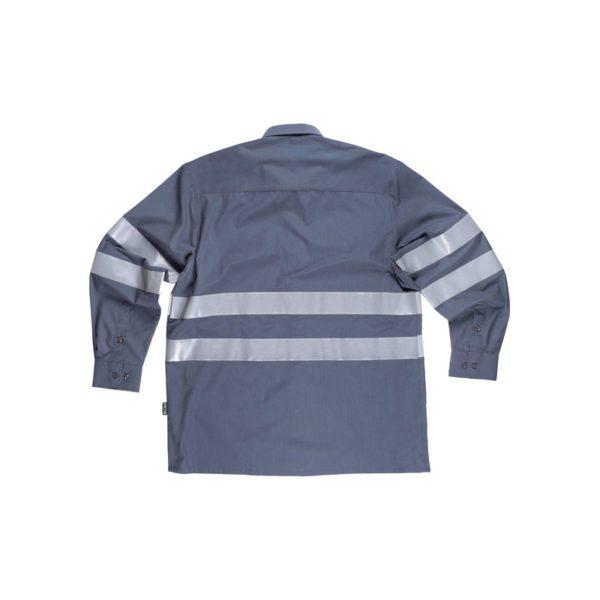 camisa-workteam-alta-visibilidad-b8007-gris
