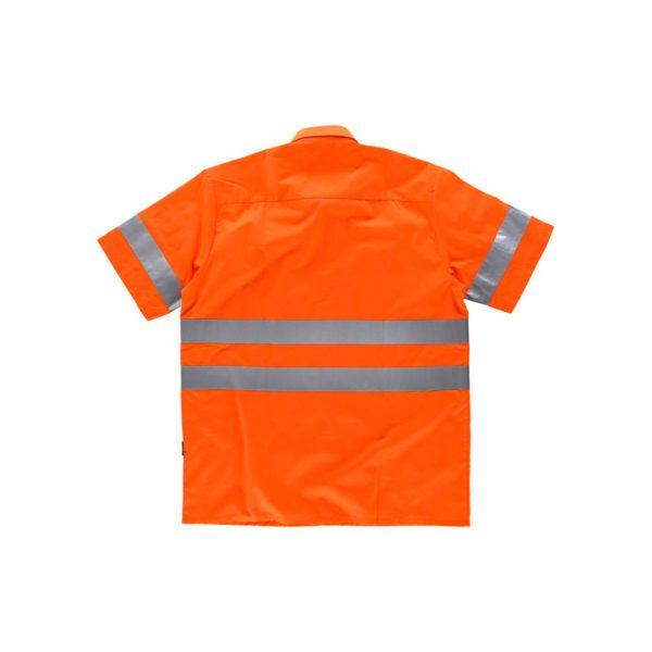 camisa-workteam-alta-visibilidad-c3810-naranja-fluor