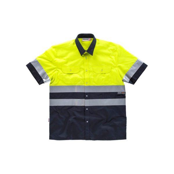 camisa-workteam-alta-visibilidad-c3811-azul-marino-amarillo