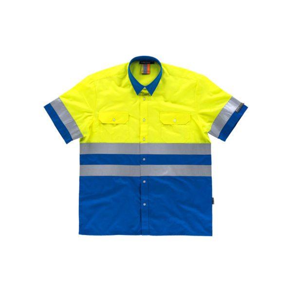 camisa-workteam-alta-visibilidad-c3812-azulina-amarillo