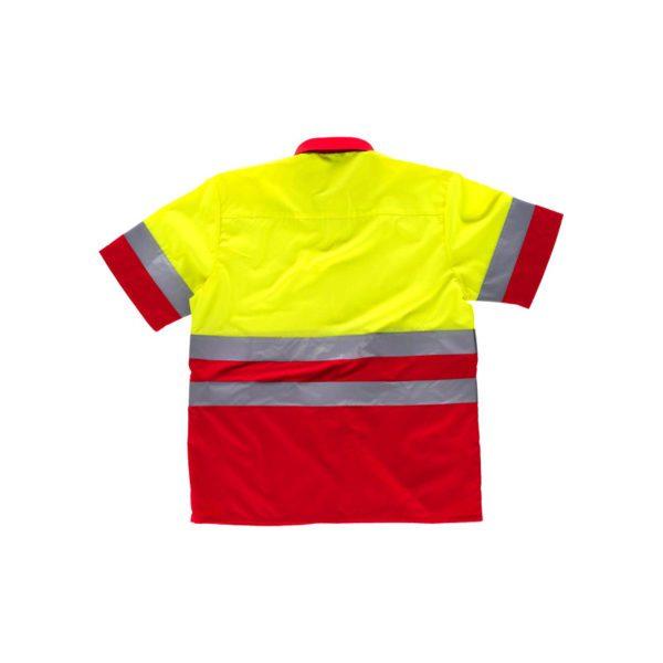 camisa-workteam-alta-visibilidad-c3812-rojo-amarillo