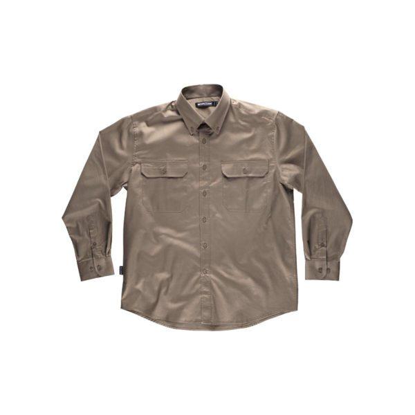 camisa-workteam-b8300-beige