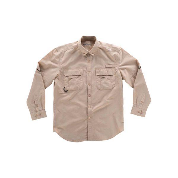 camisa-workteam-b8500-beige