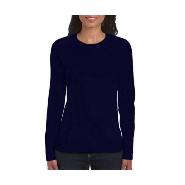 camiseta-gildan-64400l-azul-marino