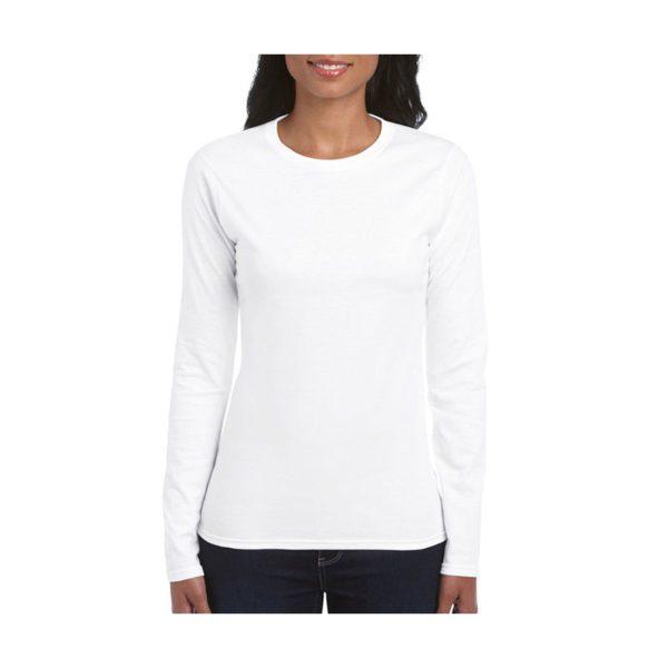 camiseta-gildan-64400l-blanco