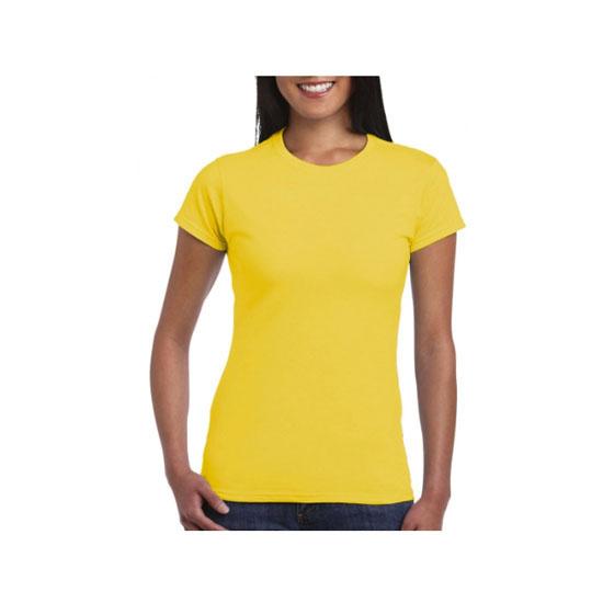 camiseta-gildan-softstyle-entallada-64000l-amarillo-margarita