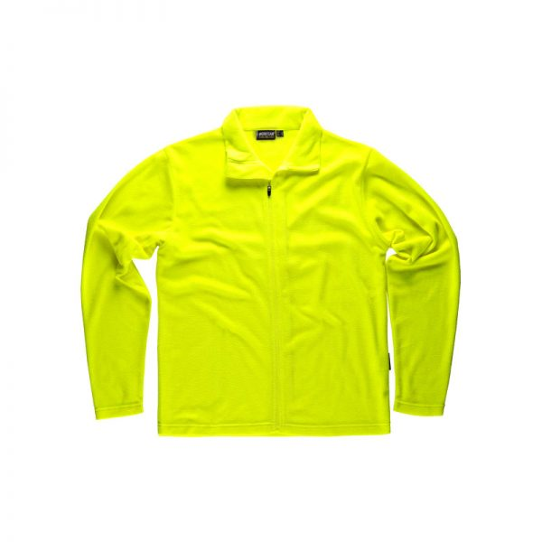 camiseta-polar-workteam-s4002-amarillo-fluor