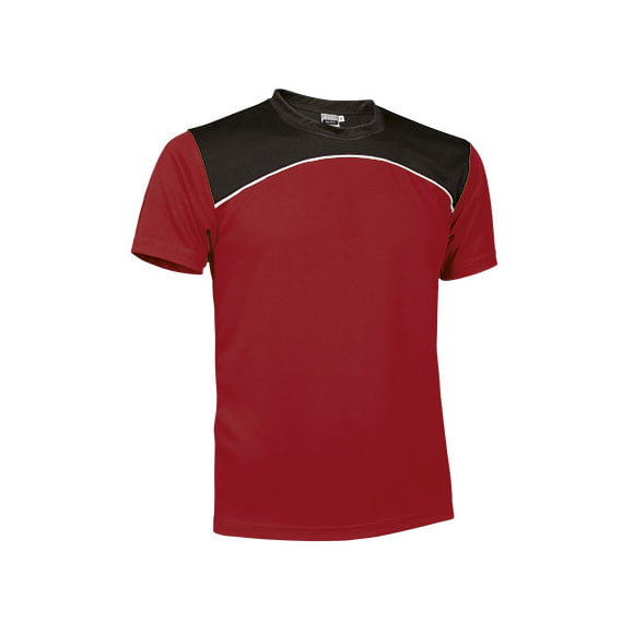 camiseta-valento-maurice-rojo-blanco-negro