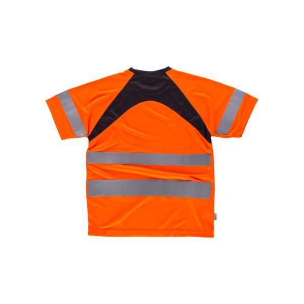 camiseta-workteam-alta-visibilidad-c2941-naranja-fluor-negro