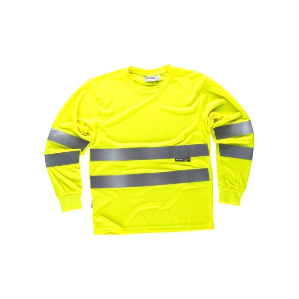 camiseta-workteam-alta-visibilidad-c3933-amarillo-fluor