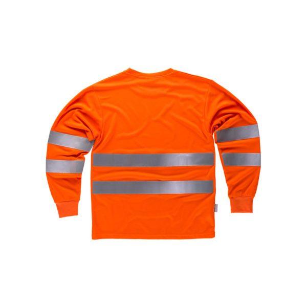 camiseta-workteam-alta-visibilidad-c3933-naranja-fluor
