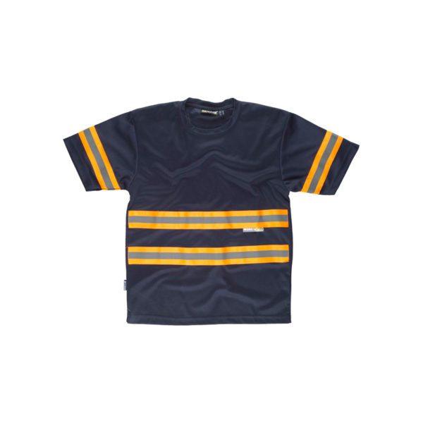 camiseta-workteam-alta-visibilidad-c3936-azul-marino-naranja