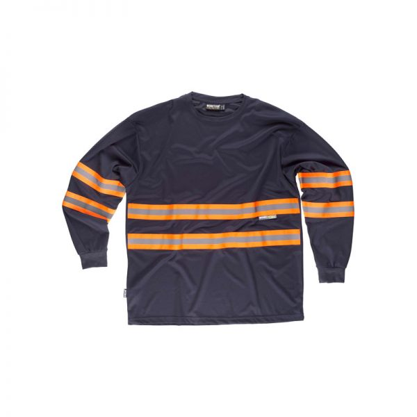 camiseta-workteam-alta-visibilidad-c3937-azul-marino-naranja