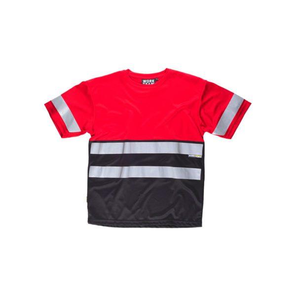 camiseta-workteam-alta-visibilidad-c3940-rojo-negro