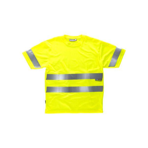 camiseta-workteam-alta-visibilidad-c3945-amarillo-fluor