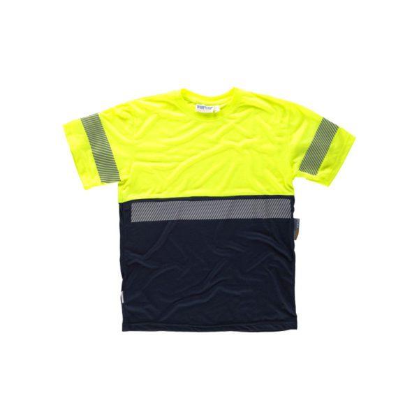 camiseta-workteam-alta-visibilidad-c6030-azul-marino-amarillo
