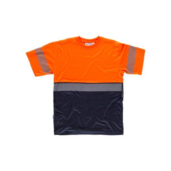 camiseta-workteam-alta-visibilidad-c6030-azul-marino-naranja