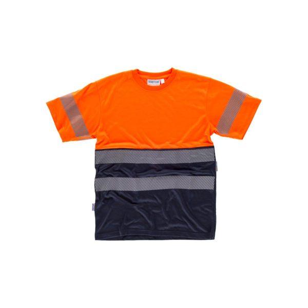 camiseta-workteam-alta-visibilidad-c6040-azul-marino-naranja