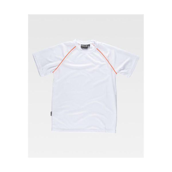 camiseta-workteam-s6640-blanco-naranja