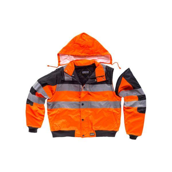 cazadora-workteam-alta-visibilidad-desmontable-c3750-negro-naranja