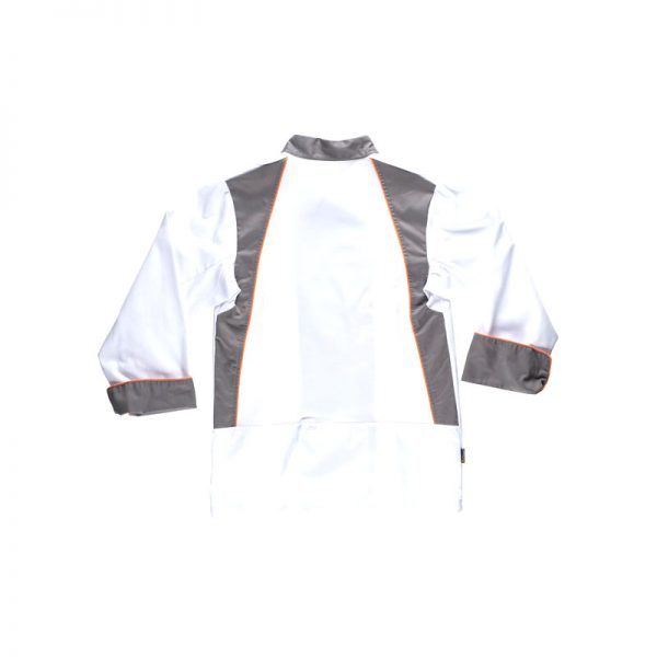 chaqueta-workteam-cocina-b9240-blanco-gris-naranja