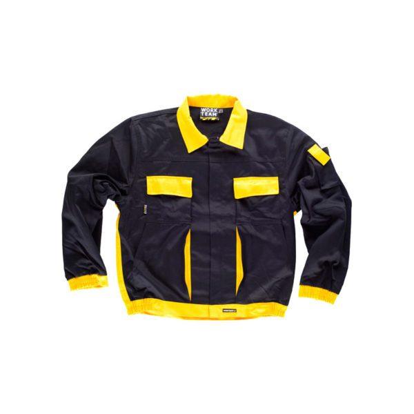 chaqueta-workteam-wf1150-negro-amarillo